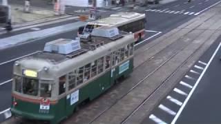 広島電鉄 1900形1903号車「舞妓」号 本川町電停附近にて 20171013