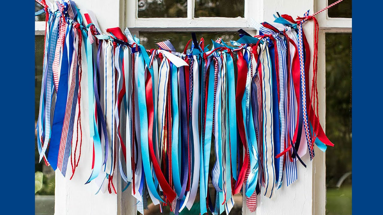 home decoration ideas with ribbons diy patriotic ribbon decorations summer tutorial 12774
