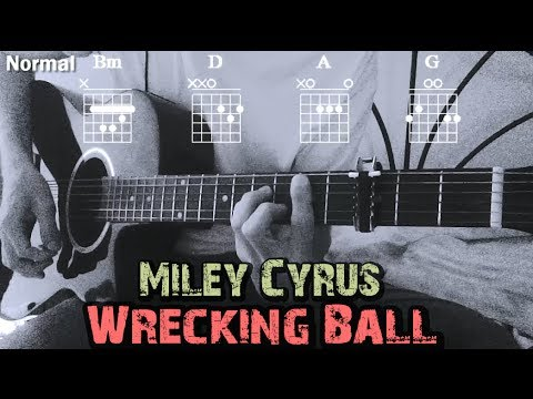 How to Play ▶Miley Cyrus ~ Wrecking Ball◀ || Capo/Chords Tutorial || Como Tocar en Guitarra✔