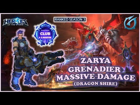 Grubby | Heroes of the Storm - Zarya - Grenadier Massive Damage - S3 - Dragon Shire
