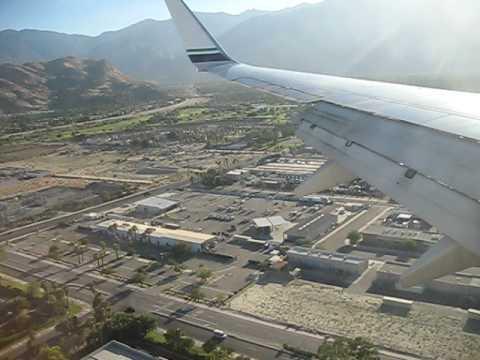 Bumpy landing - Alaska Airlines Boeing 737-700 landing at Palm Springs Airport (PSP)