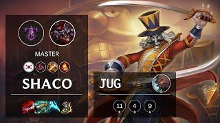 Shaco Jungle vs Udyr - KR Master Patch 11.4