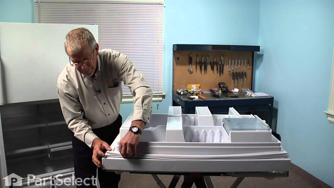 Refrigerator Repair    Replacing The Fresh Food Door Gasket (GE Part #  WR24X446)