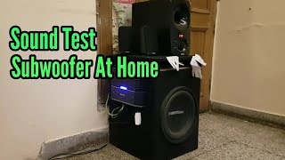 Sound Test of Car Audio at Home with Inverter Battery.