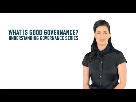 What is Good Governance?