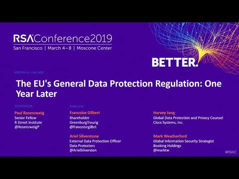 The EU's General Data Protection Regulation: One Year Later