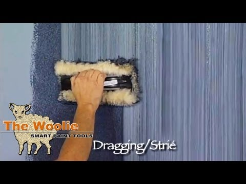 Dragging Strie  How To Faux Finish Painting by The Woolie (How To Paint Walls) #FauxPainting