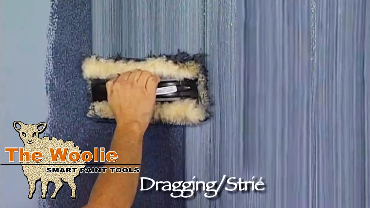 Faux Finish Paint dragging strie how to faux finish paintingthe woolie (how to