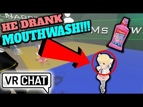 Loli Trap Drinks Mouthwash To Get Drunk!? VRChat Funny Moments ft. Dounatsu, FlareSnare & Naddition!
