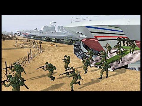 Full-scale Russian Naval Brigade Amphibious Assault | Men of War Assault Squad Modern Mod Gameplay