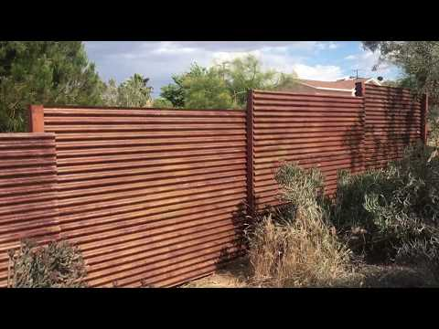 How to purposely rust a corrugated metal fence in 10 min