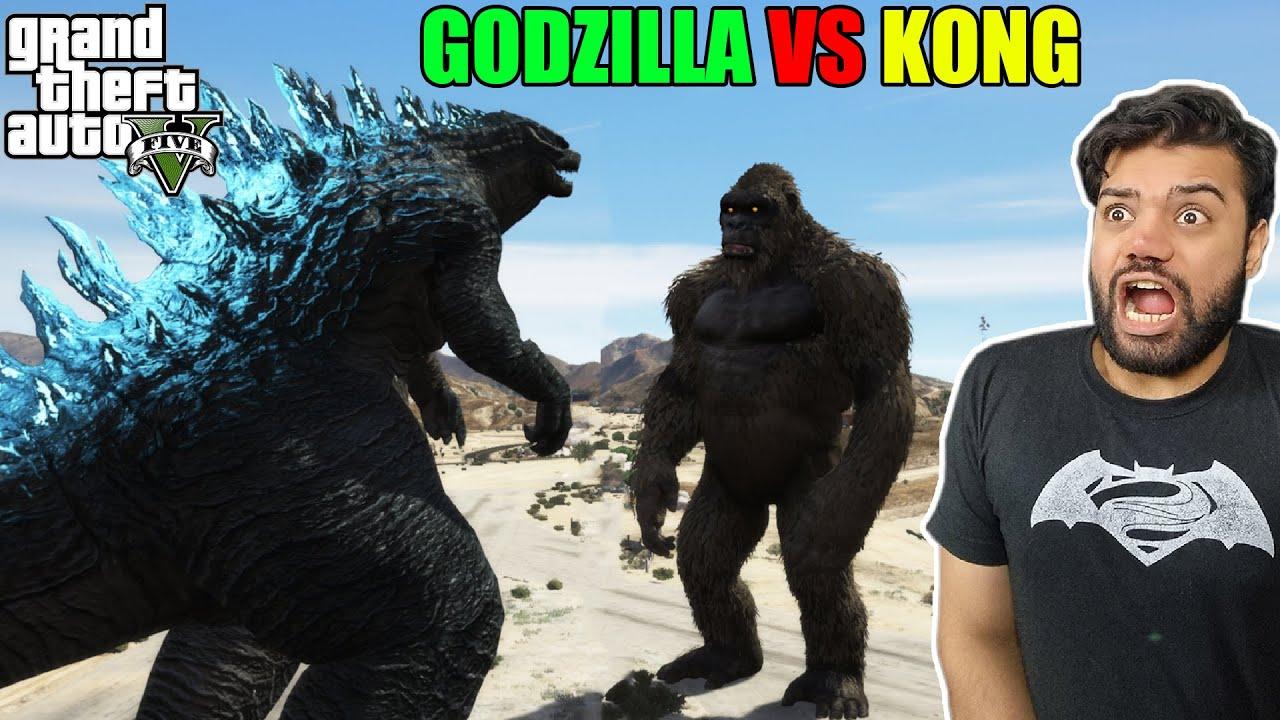 Godzilla VS Kong In Los Santos (The End) | GTA 5 GAMEPLAY #35