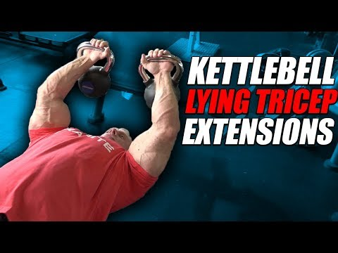 Exercise Index - Kettlebell Lying Tricep Extensions Skull Crusher