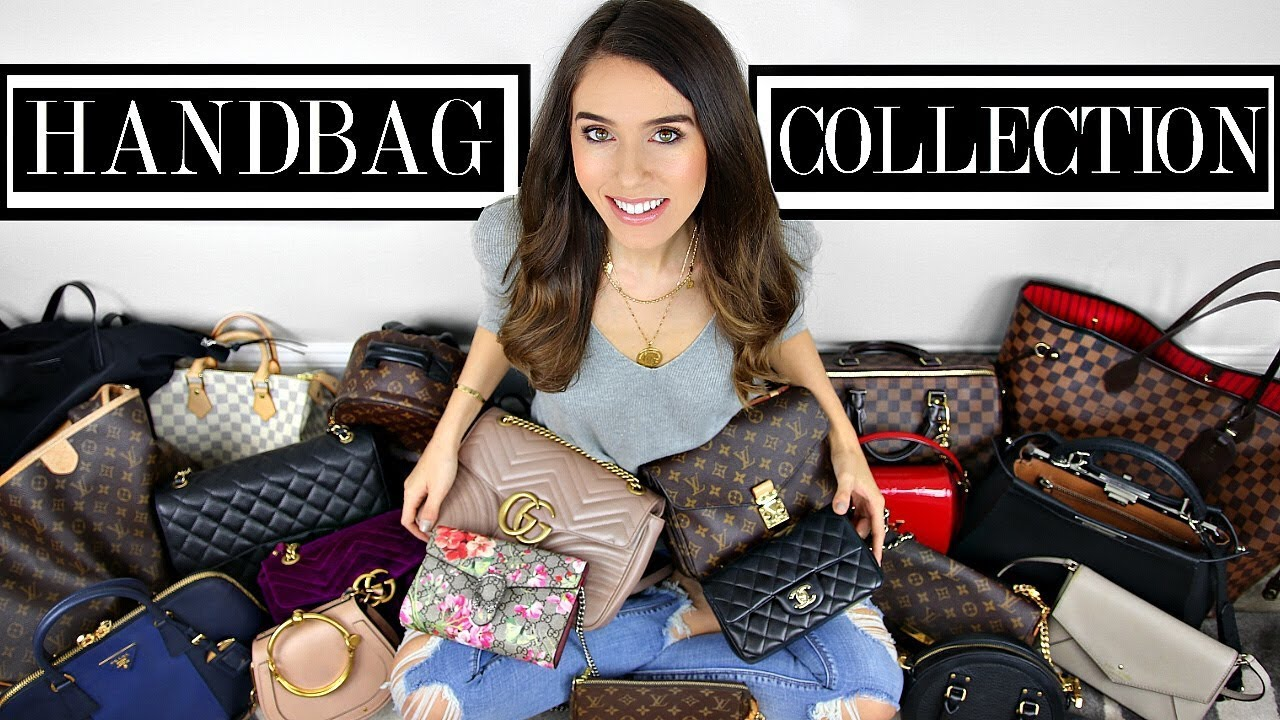 6edc509ee2b2 MY DESIGNER HANDBAG COLLECTION 2018! - YouTube