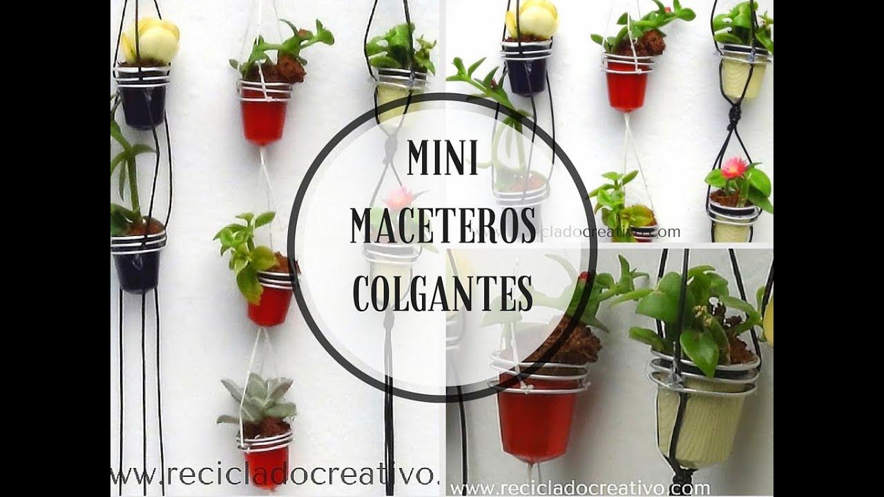 Mini jard n colgante con c psulas de caf mini hanging garden with recycled coffee pods youtube - Como hacer maceteros colgantes ...