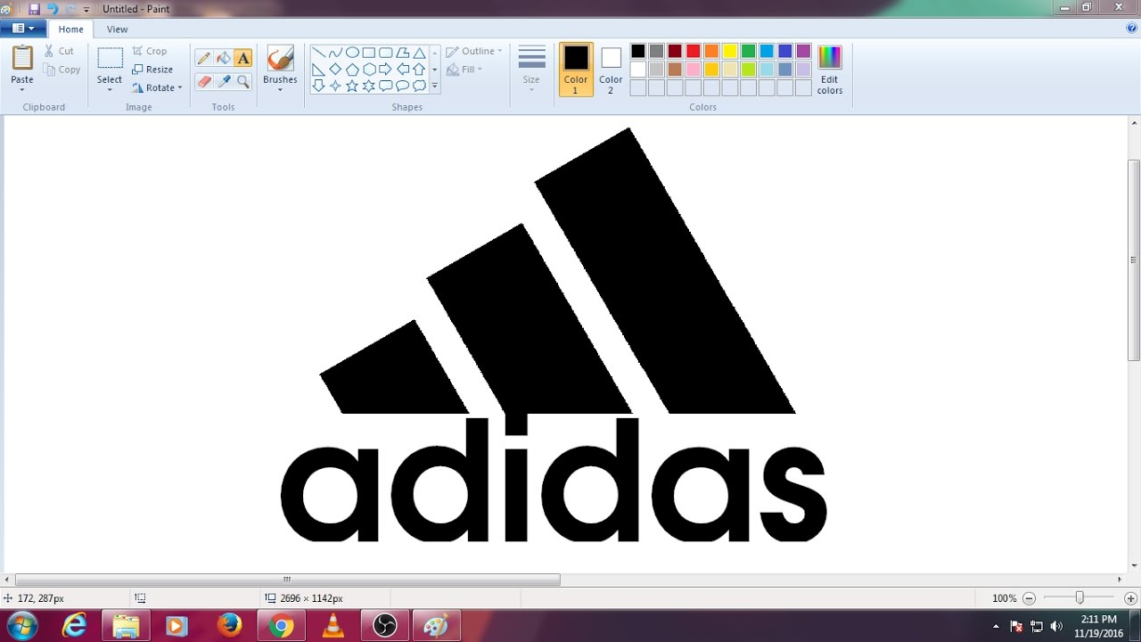 Adidas Logo In Ms Paint Youtube