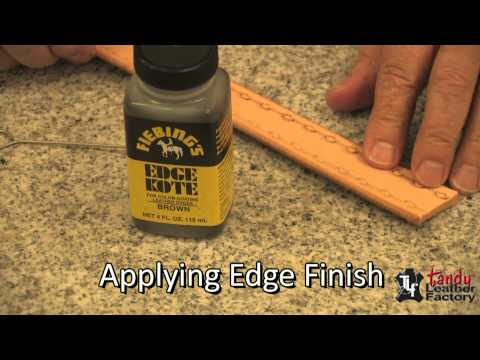 How To Finish Exposed Edges On Leather