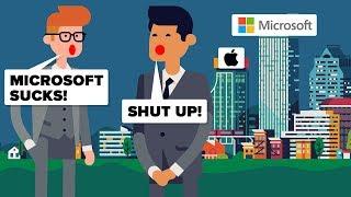 Gambar cover Is Microsoft Actually More Successful Than Apple? Microsoft vs Apple - Tech Company Comparison