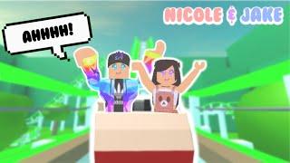 NICOLE & JAKE GO TO UNIVERSAL STUDIOS! // Roblox Nicole & Jake Roleplay