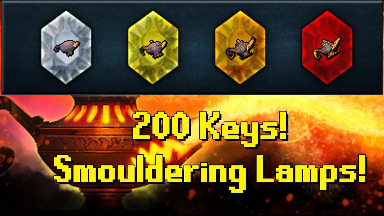 RS3 Vlog | Using 200 Treasure Hunter Keys! | Smouldering Lamps ...