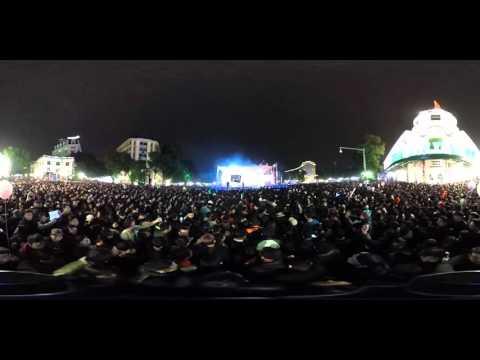 Đêm giao thừa Hà Nội qua camera 360 độ