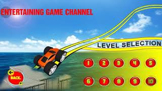 Impossible Monster Car Games - Kids Monster Truck - Funny Car Videos For Children - S  | CAR RACING