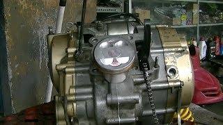 Merakit mesin FU bore up piston 66mm dari bawah sampai hidup