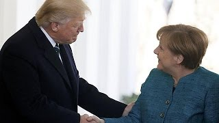 Merkel meets Trump at the White House