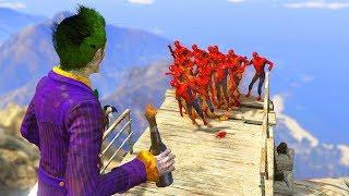 GTA 5 Crazy Ragdolls Spiderman Vs Joker vol.2 (GTA 5 Euphoria Physics, Fails, Funny Moments)