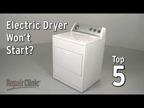 "Thumbnail for video ""Dryer Won't Start? Electric Dryer Troubleshooting"""