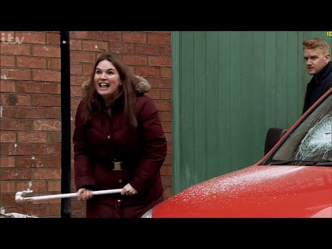 Coronation Street - Anna Attacks Phelan And Smashes Up His Van
