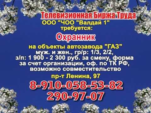 14 марта _13.15_Работа в Нижнем Новгороде_Телевизионная Биржа Труда