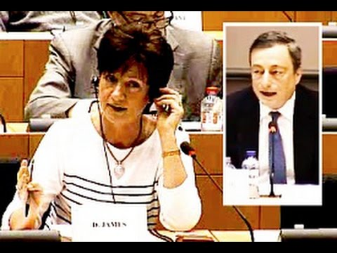 UKIP MEP Diane James questions ECB chief Draghi over scrutiny, and he cops out - again