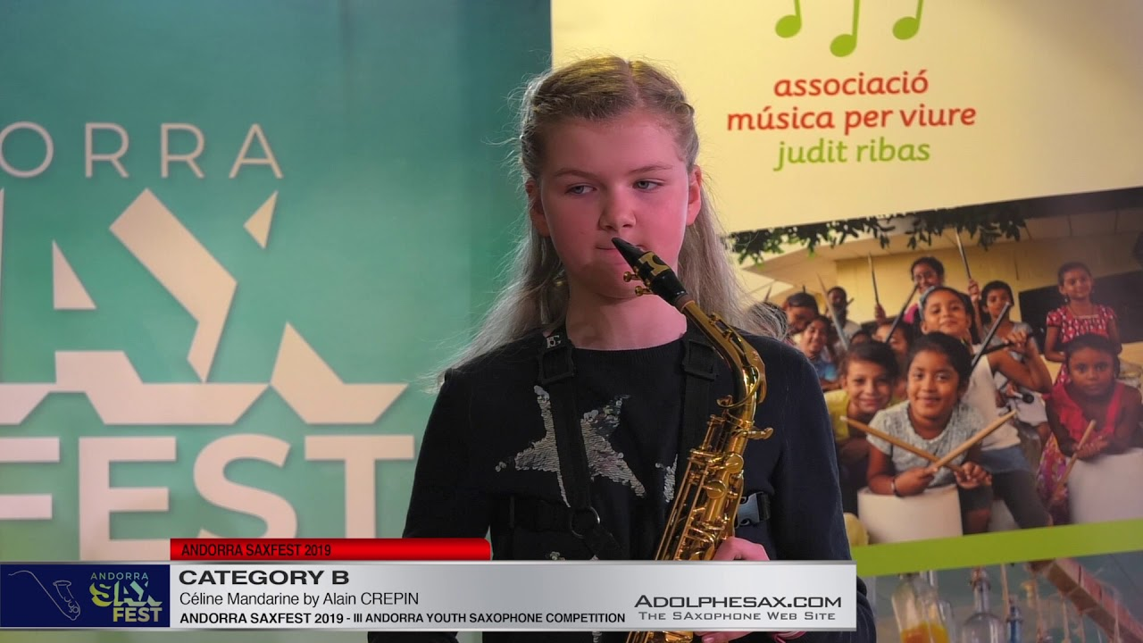 Andorra saxfest 2019 – Youth Saxophone Competition – Anna Armengol Kotova – Ce?line Mandarine
