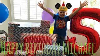Happy 5th birthday Michael