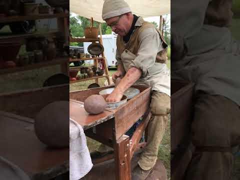 Pottery making at Fort Mandan