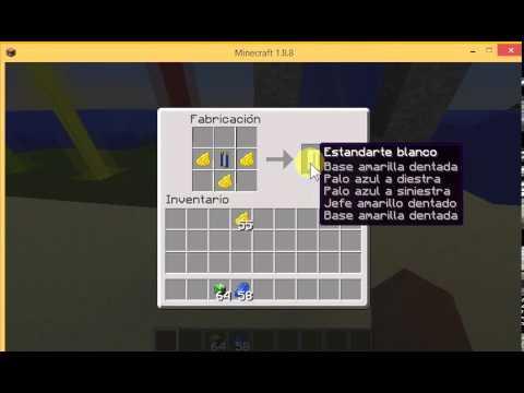 Como hacer estandartes personalizados en minecraft youtube - Como se hacen los espejos ...