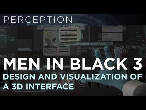 How to visualize a 3D interface for Men In Black 3