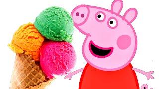 Свинка Пеппа и мороженщик | Peppa Pig And The Ice Cream Truck | Мороженое для Свинки Пеппы