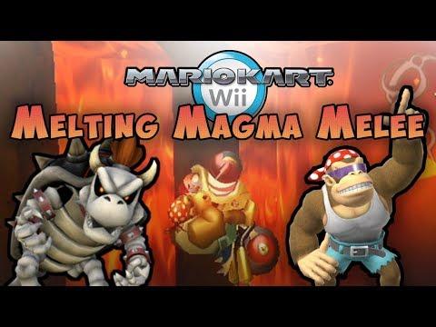 Mario Kart Wii Custom Track: Troy vs Melting Magma Melee 😡