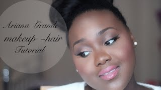Ariana Grande on a Brown Girl!- Makeup Look + High Bun on Natural Hair | Chanel Boateng Thumbnail