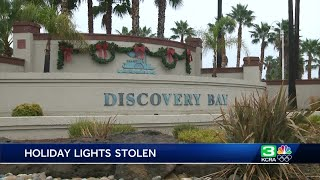 Expensive holiday light display stolen in Discovery Bay