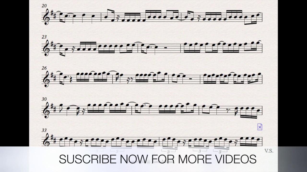 DESPACITO SHEET MUSIC VIOLIN WITH PLAY ALONG - YouTube
