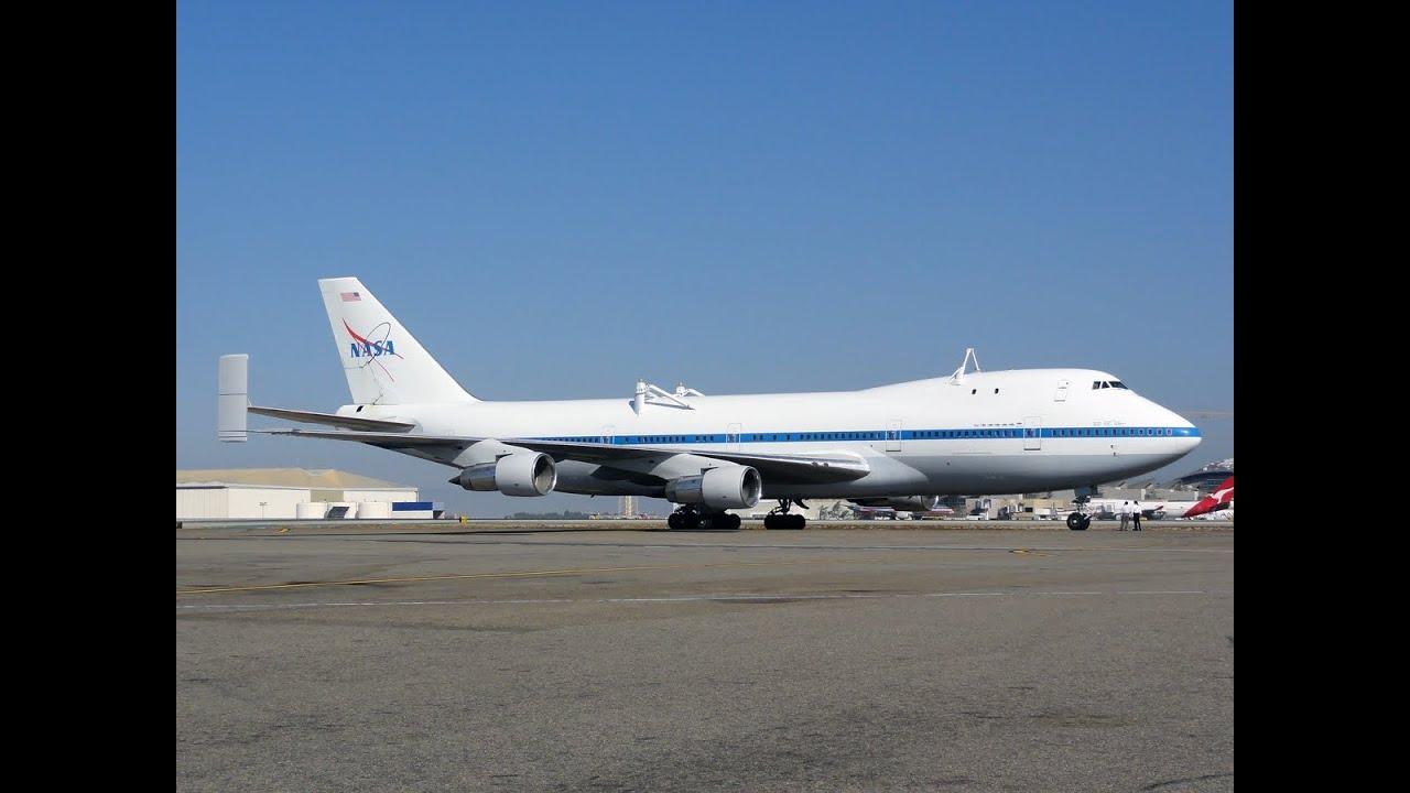 Nasa Boeing 747 123 N905na Final Takeoff From Los