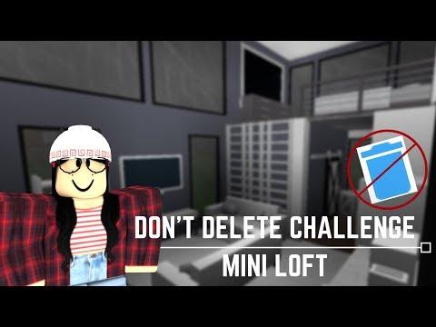 Roblox: Welcome to Bloxburg | Don't Delete Challenge! Mini Loft (16k)