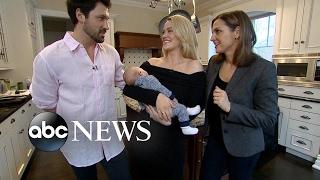 DWTS stars Maksim Chmerkovskiy, Peta Murgatroyd Debut Baby Son