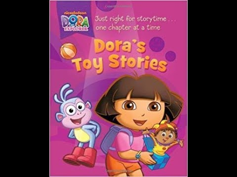 Dora's Toy Stories Boots Cuddly Dinosaur Book - YouTube