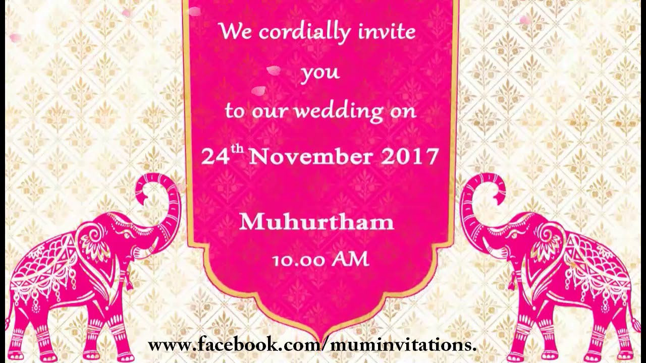 Traditional Whatsapp Wedding Invitation For Indian Couple YouTube