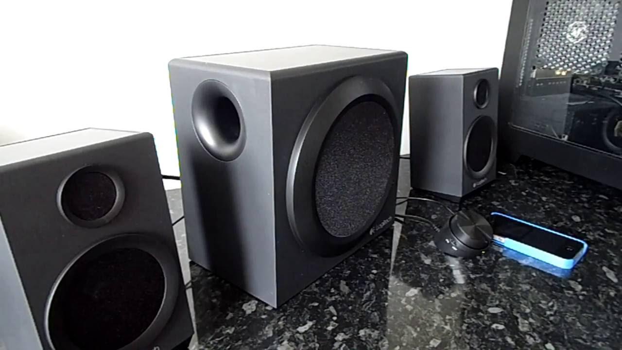 Logitech Z333 Speaker System Review Youtube