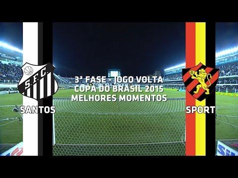 Melhores Momentos - Santos-SP 3 x 1 Sport-PE - Copa do Brasil - 22/07/2015